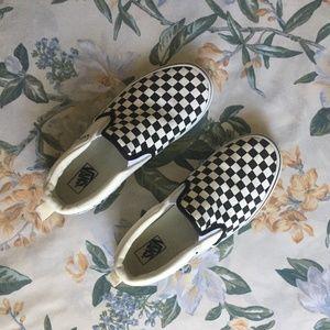 Classic Vans Black & White Checkerboard Slip Ons